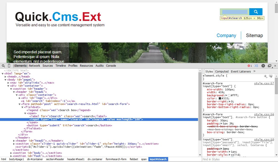 Quick Cms Ext v6 6: graphics design - basics