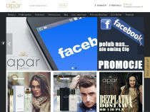 Screenshot of website aparperfume.pl