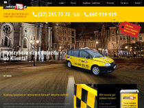 Screenshot of website radiotaxitg.pl